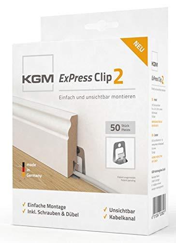 KGM Sockelleiste weiss 60mm Hamburger Fussleisten Musterset bestehend aus ✓Hamburger MDF Sockelleisten Muster ✓Massives Hamburger Holzleisten Muster ✓Eckturm wei/ß ✓KGM ExPress Clip2