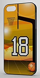 Basketball Sports Fan Player Number 18 Black Rubber Decorative iPhone 6 PLUS Case by runtopwell
