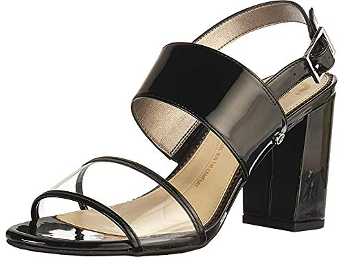 Circus by Sam Edelman Women's Olivia Heeled Sandal Black/Clear Patent/PVC 10 M ()
