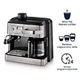 """De'Longhi BCO330T and Espresso Machine, 24"""" x 14"""" x 14"""", Black/Stainless Steel"""