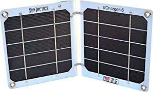 Suntactics S5 Ultralight Solar Charger, Quick Charge Phones, Power banks and many other USB Devices Using Only the Sun! Assembled in the USA