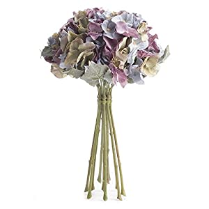 Factory Direct Craft Lovely Artificial Muted Pastel Hydrangea Floral Bouquet for Displaying, Events, and Arranging 41