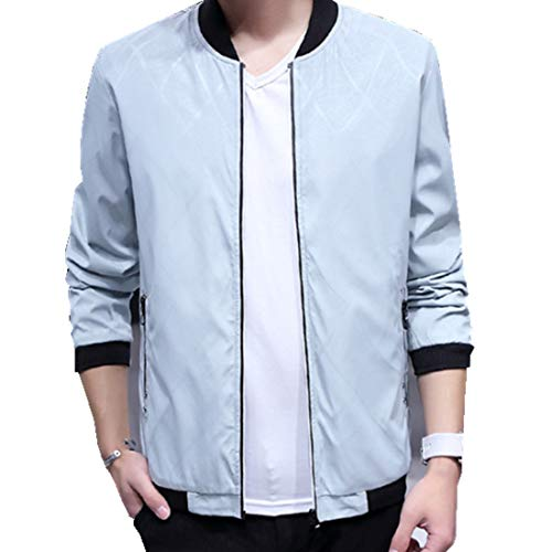 Hzcx Fashion Men's Classic Soild Color Thin Light Weight Flight Bomber Jacket DSB227-J105-40-W-US M(38) TAG L