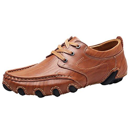 Yiiquan Hommes Léger Chaussures de Bateau PU Cuir Conduite Flâneurs Mocassin Décontractées Ville Chaussures Style 2 1IKY1B