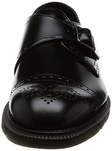 Dr. Martens Herren Cobden Black Polished Smooth Brogues, Schwarz Schwarz (Black)