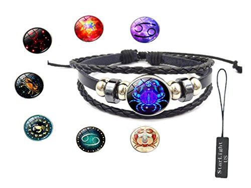 12 Constellation Hand-made Bracelet - 8 Different styles - Makes you different every day. (Cancer)