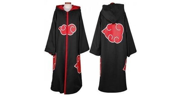 Naruto Akatsuki traje, Naruto Akatsuki capucha capa,Tamaño M ...