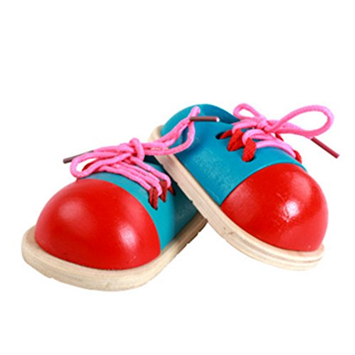 2pcs CiCy Tie-Up Shoe Kids Learnimg To Tie Shoe Lacing Preschool Educational Toy One Pair