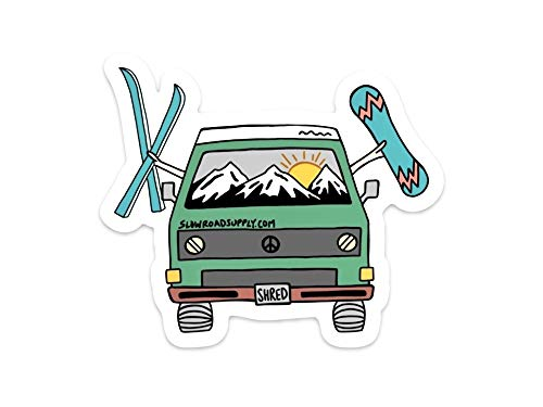 (Slow Road Supply Shred Van - Sticker/Decal)