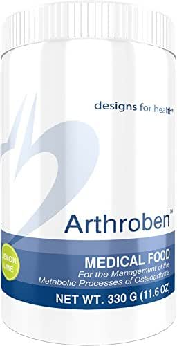 Designs for Health Arthroben Lemon Lime - Collagen Peptide Powder + Flavonoids (30 Servings / 330g)