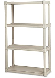 Sterilite Premium Heavy Duty 4 Shelf Storage Unit With Tubular Construction