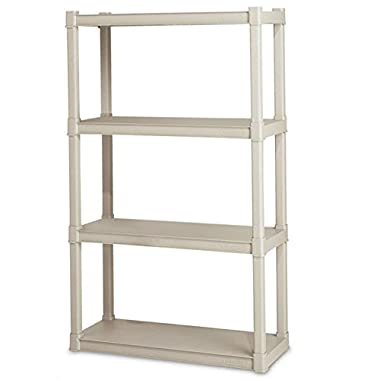 Sterilite Premium Heavy Duty 4-Shelf Storage Unit with Tubular Construction