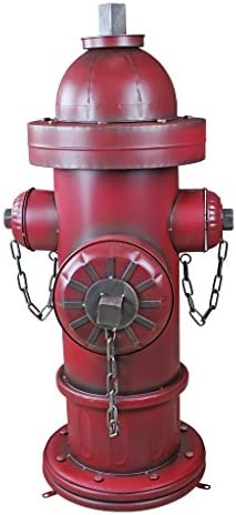 Design Toscano FU82351 Fire Hydrant Statue Puppy Pee Post and Pet Storage Container