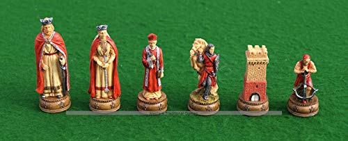 流行に  Italfama Resin, Camelot Chess Pieces Chess - Resin, Pieces Hand-Painted B07BMCQJ2R, Roger:fdf9acc4 --- nicolasalvioli.com