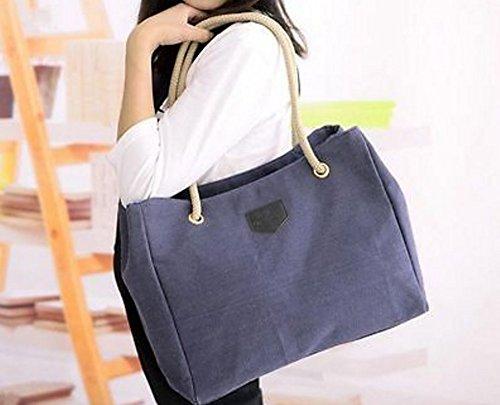 Generic - Bolso mochila  para mujer L Azul