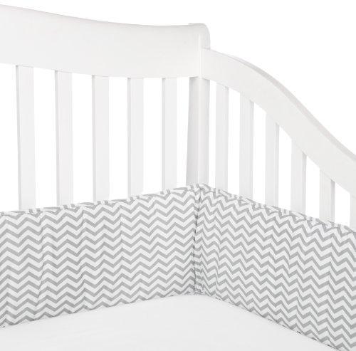 American Baby Company 100% Cotton Percale Crib Bumper, Zigzag Grey by American Baby Company