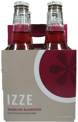 Izze Sparkling Blackberry Soda Full Case (24 - 12 Ounce) Bottles