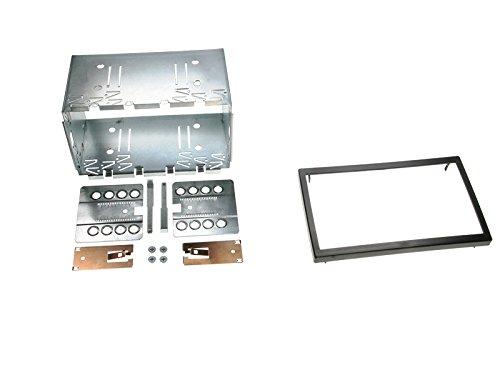 Radioanschlusskabel Zubeh/ör und Radioblende//Einbaurahmen schwarz VW Fox 05-11 2-DIN Autoradio Einbauset in original Plug/&Play Qualit/ät mit Antennenadapter