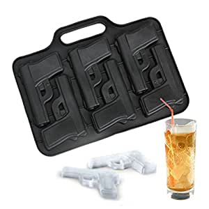 Song Qing Silicone Pistol Gun Shape Ice Mold Ice Drink Tray Ice Cube Make Ice Maker Mould