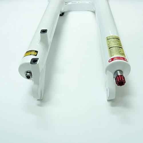 SR Suntour XCR RL Air Spring MTB Bike Fork (29'', White, 1 1/8'', 100mm, Disc Brake, Remote Lockout, QR 9mm) by SR Suntour (Image #1)