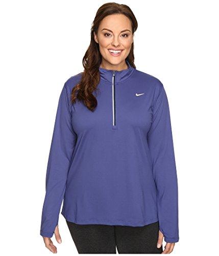 Nike Wom Ext Size Element 1/2 Zip 2X Dk Purple