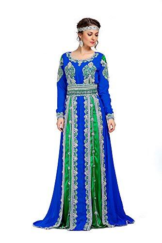 PalasFashion brodé islamique femmes Robes KKPF1056 Caftan du Maroc
