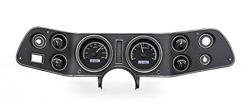 Dakota Digital 70 - 81 Chevy Camaro VHX System Analog Dash Gauges Black Alloy White VHX-70C-CAM-K-W