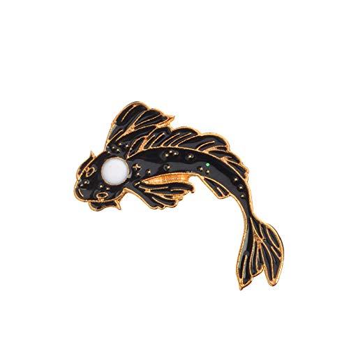 Broche Accessoires de Vetements Broches Broche /émaill/ée de Poisson Rouge /émail Broche Denim Revers insignes de Poissons insignes de Bijoux de Mode bhty235