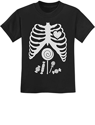 Kids Skeleton Shirt - Children Skeleton Candy Rib-cage X-Ray Halloween