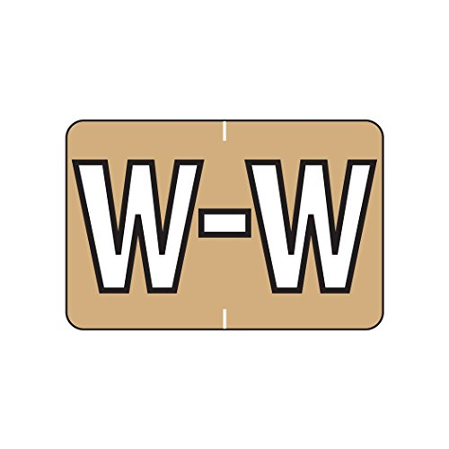 ed Labels- Letter W, Light Brown, Barkley ABKM and Sycom Compatible (Polylaminated, 500/Roll) (Storage Color Code)