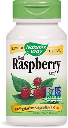 Nature's Way Red Raspberry Leaves, 450 mg, 100 Capsules