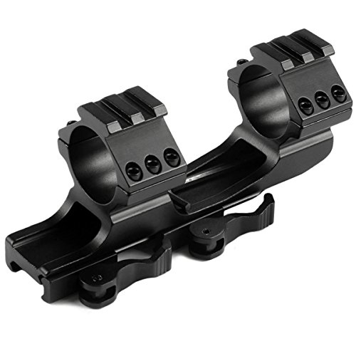 MIZUGIWA 1inch /30mm Quick Release Cantilever Weaver Forward Reach Dual Ring Rifle Scope Mount