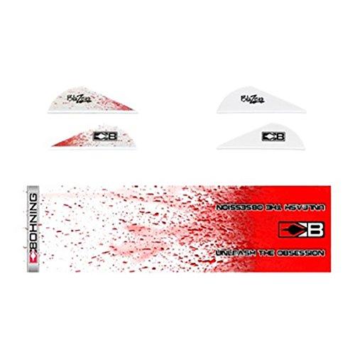 Bohning True Color Wrap & Vane Combo True Color Blazer Vane/Wrap Combo, White Blood Splatter by Bohning