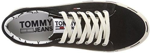 Hilfiger Sneaker Suede Nero Black Ginnastica 990 Tommy da Basse Jeans Donna Scarpe Denim r6CqwBHr