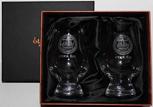 Caol Ila Islay Crest Scotch Whisky Glencairn Two Glass Boxed Set