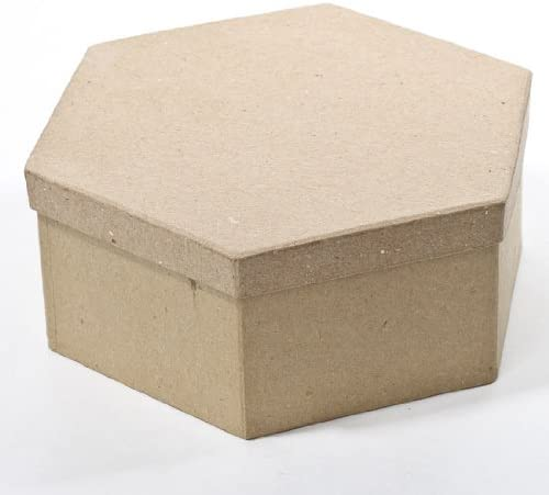 Storing and Creating Factory Direct Craft Octagon Shaped Paper Mache Box with See Thru Lids for Crafting