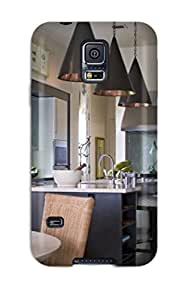 High-end Case Cover Protector For Galaxy S5(contemporary Kitchen Lit By Hammered Copper Pendants)