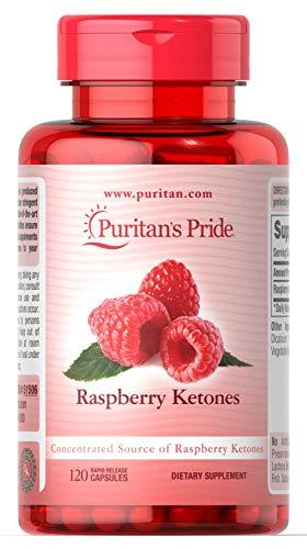 Puritan's Pride Raspberry Ketones 100 mg-120 Rapid Release Capsules