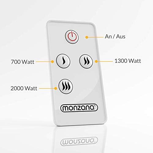 Radiador de techo 3 intensidades de calor 2000 W incluye cadena y mosquet/ón para colgar interior y exterior Mando a distandia Bares Restaurantes Terrazas Calefacci/ón de techo
