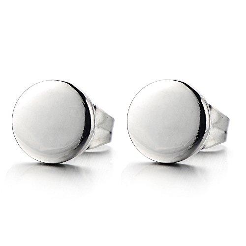 Stainless Steel Plain Circle Earrings