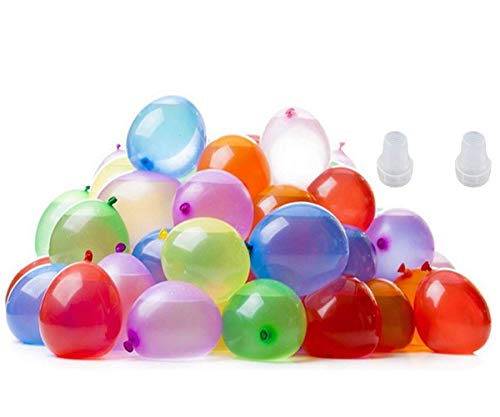 - Arfun 500 Pack Self Tie Water Balloons, Latex Water Bomb Balloons Fight Games,Summer Splash Fun for Kids and Adults