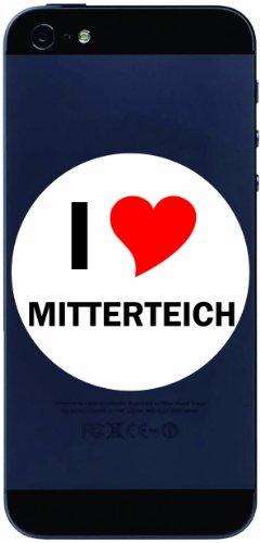I Love Decal Sticker sticker cell phone sticker Handyskin 7 cm with city name MITTERTEICH