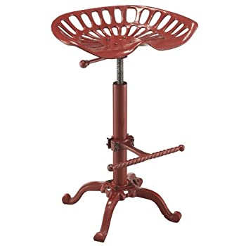 Carolina Chair and Table Adjustable Colton Tractor Seat Stool, Red
