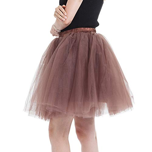 f5ed73d354 Marrón Tutú Soltera De Baile Princesas Enaguas Cortas Falda Para Mini  Despedida Tul Ballet Fiesta Faldas ...