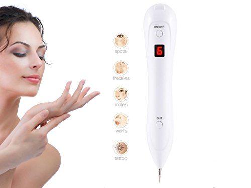 Mole Removal Pen Dark Spot Nevus Tattoo Dot Mole Remover Beauty Skin Machine with LCD for Removing Skin Tag by Dardugo