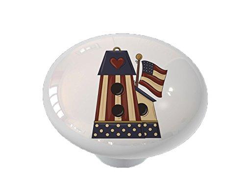 Birdhouse Cabinet Knob - American Birdhouse Ceramic Drawer Knob