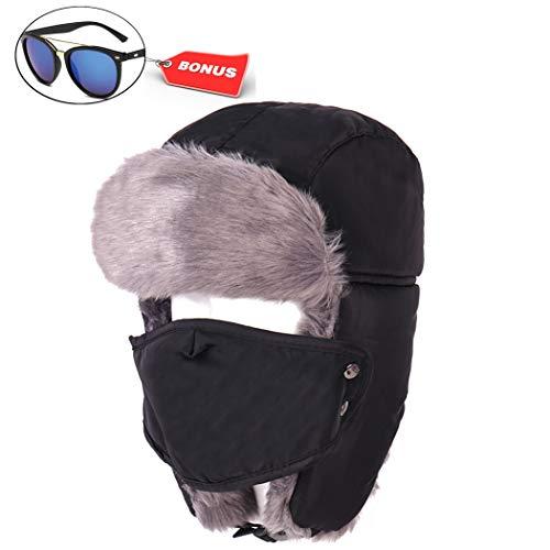 Proof Trapper Hat Men Aviator Hat Russian Hat Sport Outdoor Ear Flaps Bomber Caps Snow Ski Hat Waterproof Cap