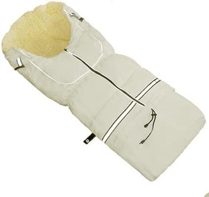 Saco de dormir Nils de piel de pelo de Baby-joy NF-01 110 cm crema ...