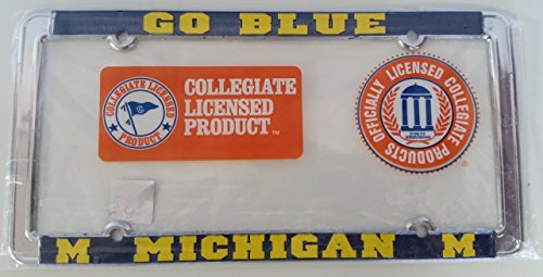 New - Michigan Wolverines Metal License Plate Frame - Auto Car Truck Chrome