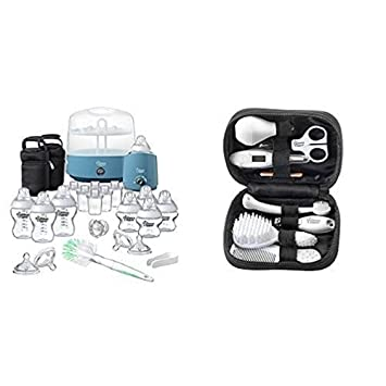 Tommee Tippee Closer to Nature Complete Feeding Set, Black with Healthcare Kit Bundle